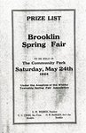 Brooklin Spring Fair Program, 1924