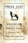 Brooklin Spring Fair Prize List, 1935