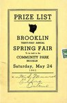 Brooklin Spring Fair Prize List, 1941