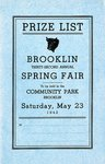Brooklin Spring Fair Prize List, 1942
