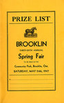 Brooklin Spring Fair Prize List, 1947