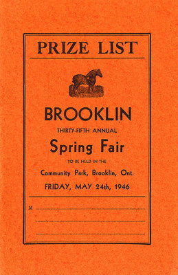 Brooklin Spring Fair Prize List, 1946