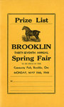 Brooklin Spring Fair Prize List, 1948