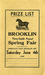 Brooklin Spring Fair Prize List, 1949