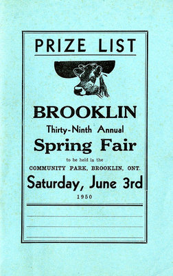 Brooklin Spring Fair Prize List, 1950