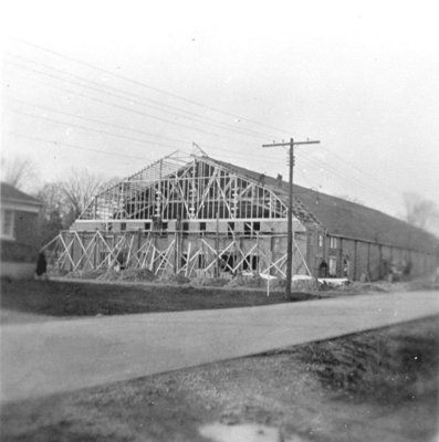 Construction of Whitby Community Arena, 1953