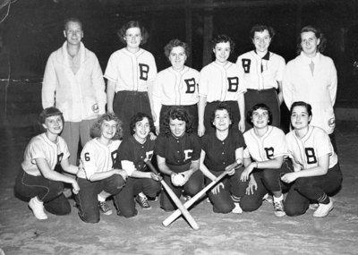 Brooklin Junior B Girls Baseball Team, 1954