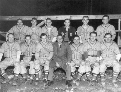 Whitby Royals Baseball Team, 1952