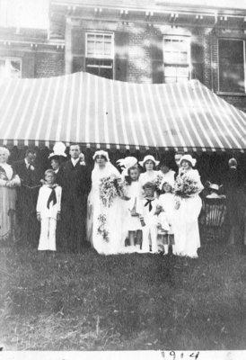 Wedding of Frederick Irwin and Katherine MacLaren, 1914