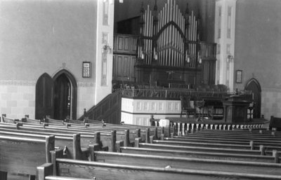 Whitby United Church Interior, 1939