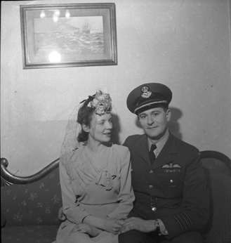 George Henry Elms with Wife, c.1945