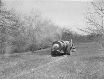 Sprayer at Red Wing Orchards, May 3, 1948
