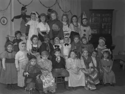 Children in Halloween Costumes, October 30, 1948