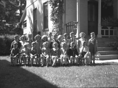 Dorothy Donald and preschool class (Image 3 of 3), 1946