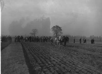 Ploughing match at Locust Hill, 1947