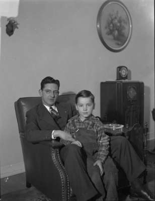 Unidentified Man and child