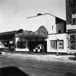 Front of the Brock Theatre and shops next door