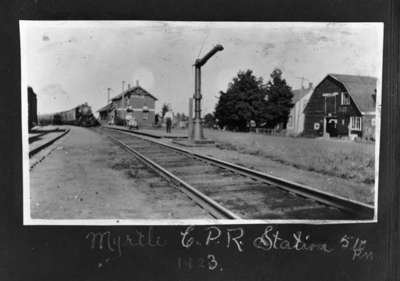 C.P.R. Railway Station and Livery Barn