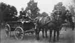 G. Norman Irwin Driving Horse Drawn Wagon at Brooklin Spring Fair
