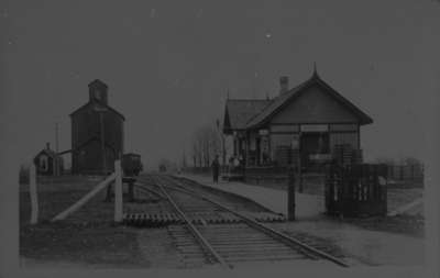 Brooklin Railway Station and Grain Elevator