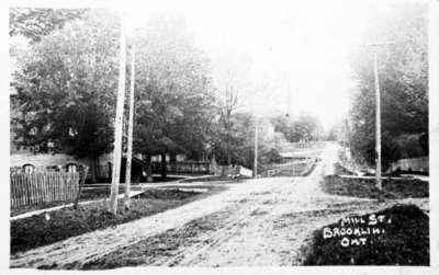 Brooklin Mill Street Looking West From Church Street