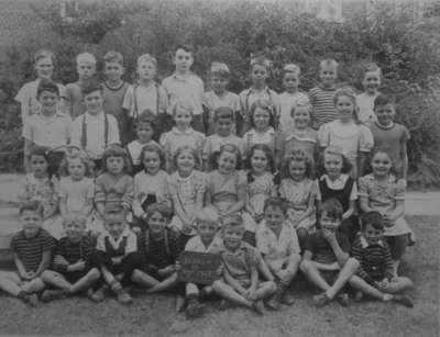 Class Photo, Grades 1-3, Brooklin Public School, 1948