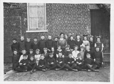 Class Photo, Room 2, Brooklin Public School, 1921-1922