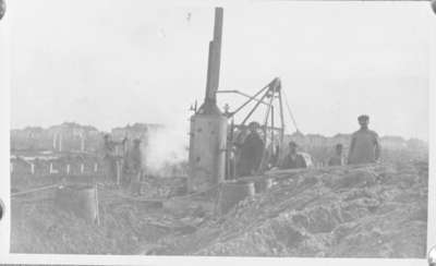 Workers with Concrete Mixer, Ontario Hospital Whitby, c.1916