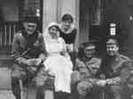 Soldiers and Nurses at Military Convalescent Hospital, 1917