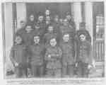 Several Unidentified Solders on the Steps of a Cottage at the Military Convalescent Hospital, 1917