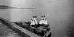 Four Nurses Sitting on Western Breakwater at Whitby Harbour, 1938
