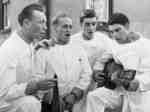 Four Male Nurses at Ontario Hospital Whitby, 1939