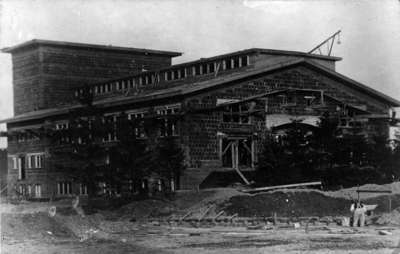 Recreation Hall Under Construction, Military Convalescent Hospital, 1917