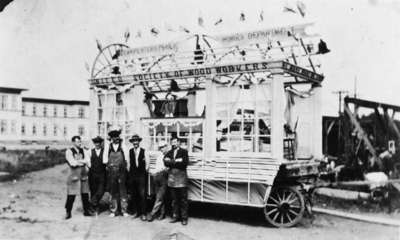 Carpenters Float, Woodworkers from Ontario Hospital, 1921