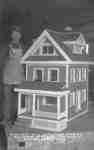 Soldier with With Model House at Ontario Hospital Whitby, c.1918