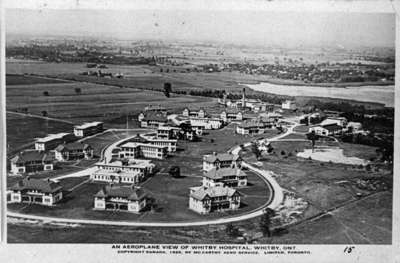 Aerial View of Ontario Hospital, 1920