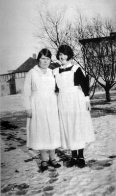 Florence Lightle and Friend at Ontario Hospital, c.1927-1933