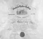 Ontario Ladies' College Diploma, 1881