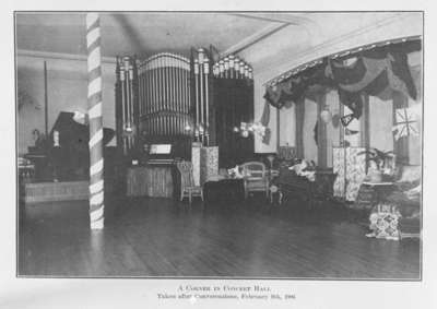 Ontario Ladies College Concert Hall, February 9, 1906