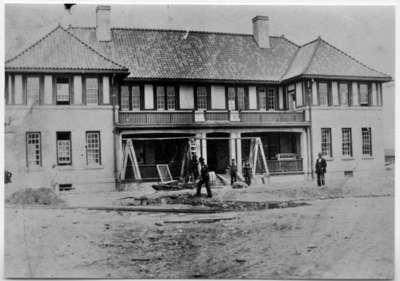 Cottage Under Construction, Ontario Hospital Whitby, c.1916