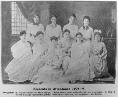 Daughters of Former Students of the Ontario Ladies' College, 1904