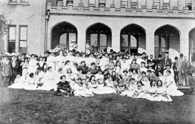 Gathering at the First May Court Festival, May 24, 1907