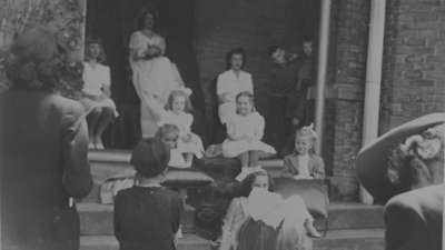 Ontario Ladies' College May Queen and Attendants, May 1945