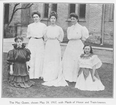 Ontario Ladies' College May Queen, May 24, 1907