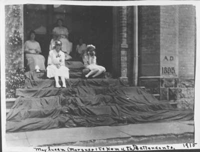 Ontario Ladies' College May Queen and Attendants, May 1915
