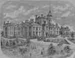 Lithograph of Ontario Ladies' College, 1887