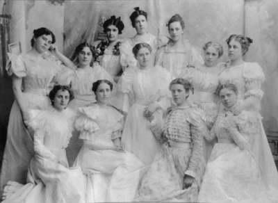 Group of Students at Ontario Ladies' College, c.1897