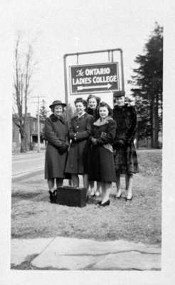 Ontario Ladies' College Sign, c.1940