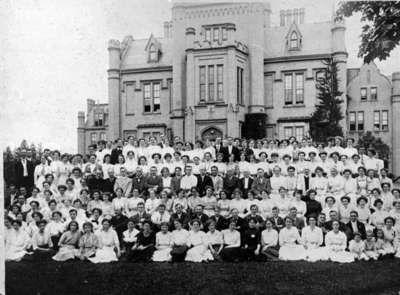 Missionary Conference Group Shot at Ontario Ladies College, July 3-10, 1911