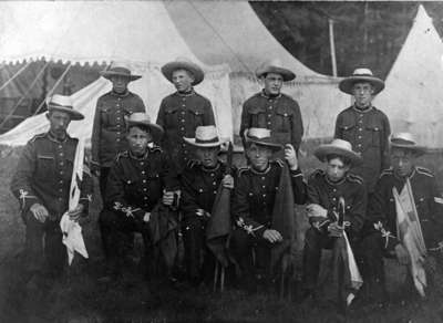 Signal Corps at Niagara-on-the-Lake Camp, 1908